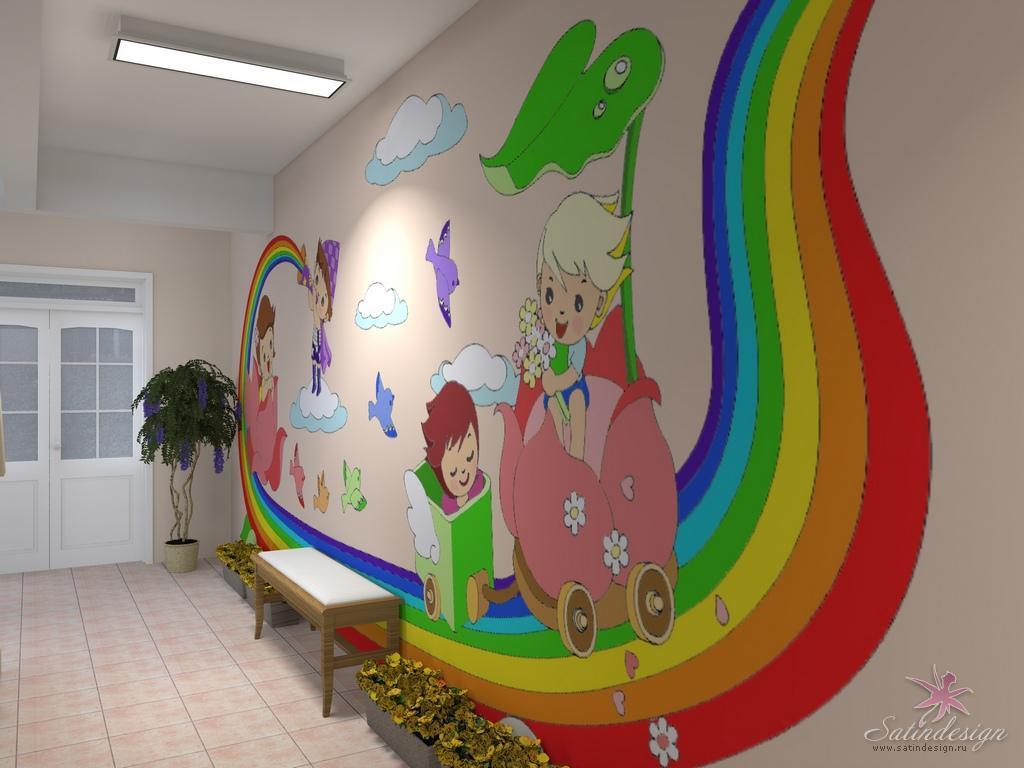 в детском саду детей знакомят с оформлением интерьеров