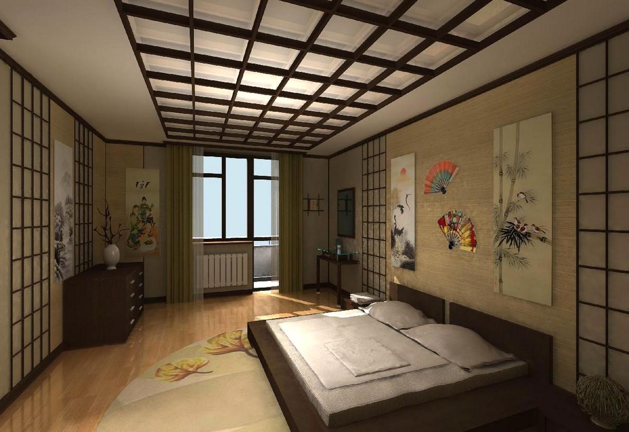Спальня в Японском стиле - фото современных дизайн-проектов.