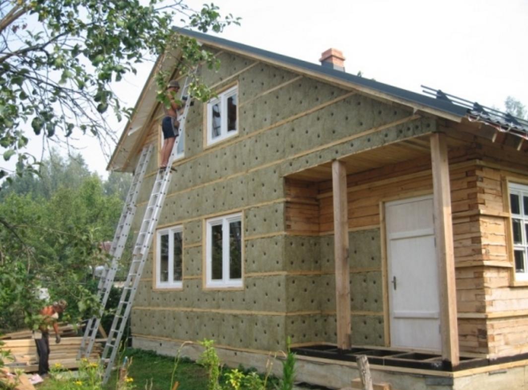 Отделка фасада деревянного дома своими руками 824