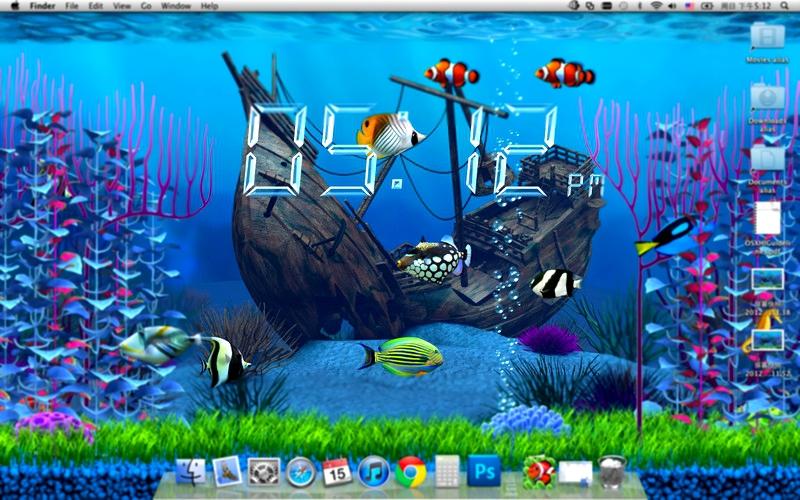 аквариум живые обои на рабочий стол для windows 7