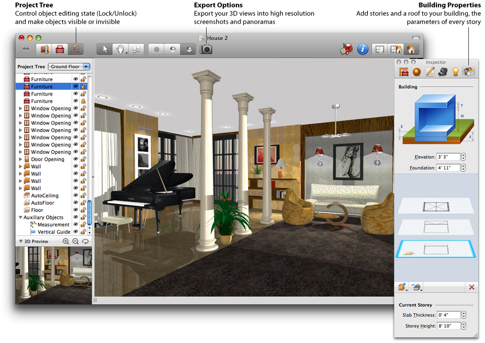 3d Interior Design Software Free Mac