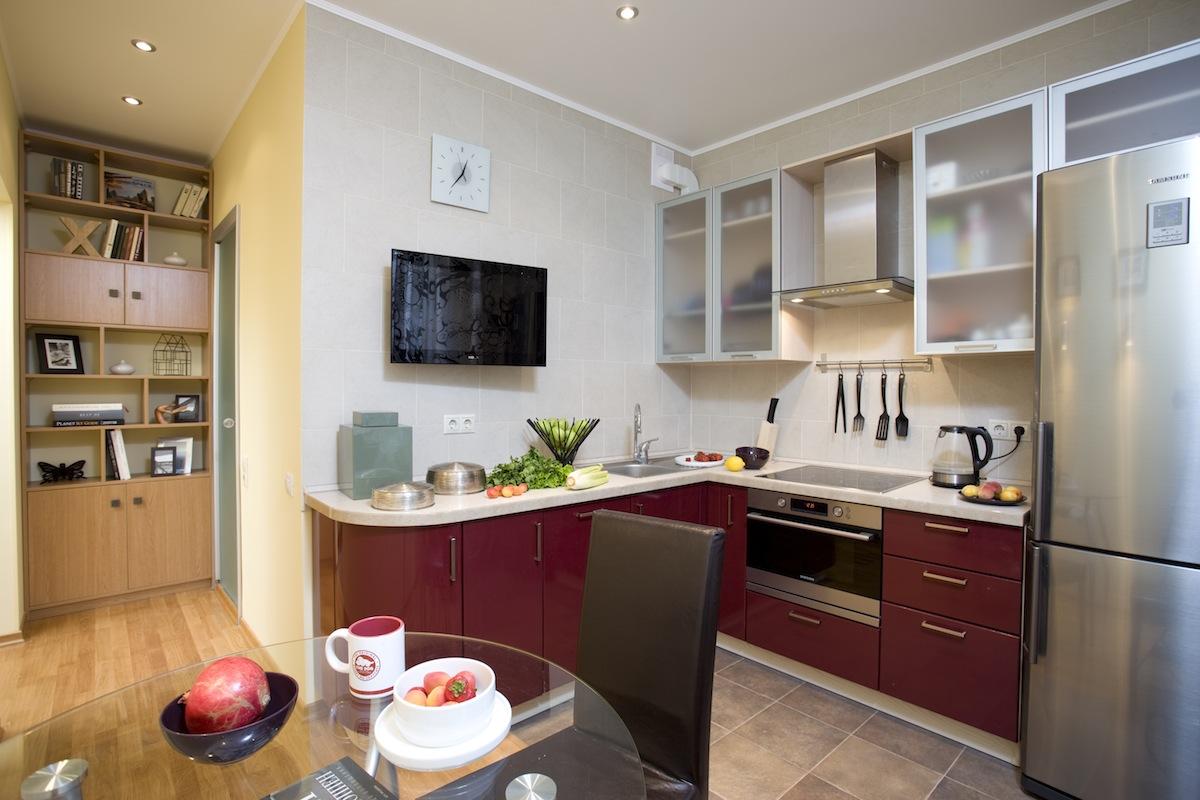 """Проект кухни в однокомнатной квартире """" картинки и фотографи."""