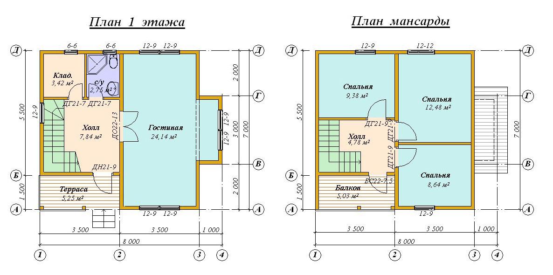 Планы двухэтажных домов примеры удачных проектов