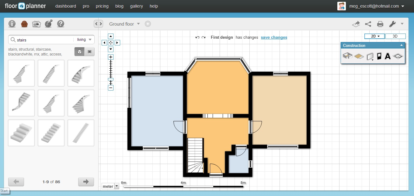 Create 3d floor plans free for Free office floor plan software
