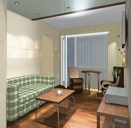 """Дизайн проходной комнаты в хрущевке фото """" картинки и фотогр."""