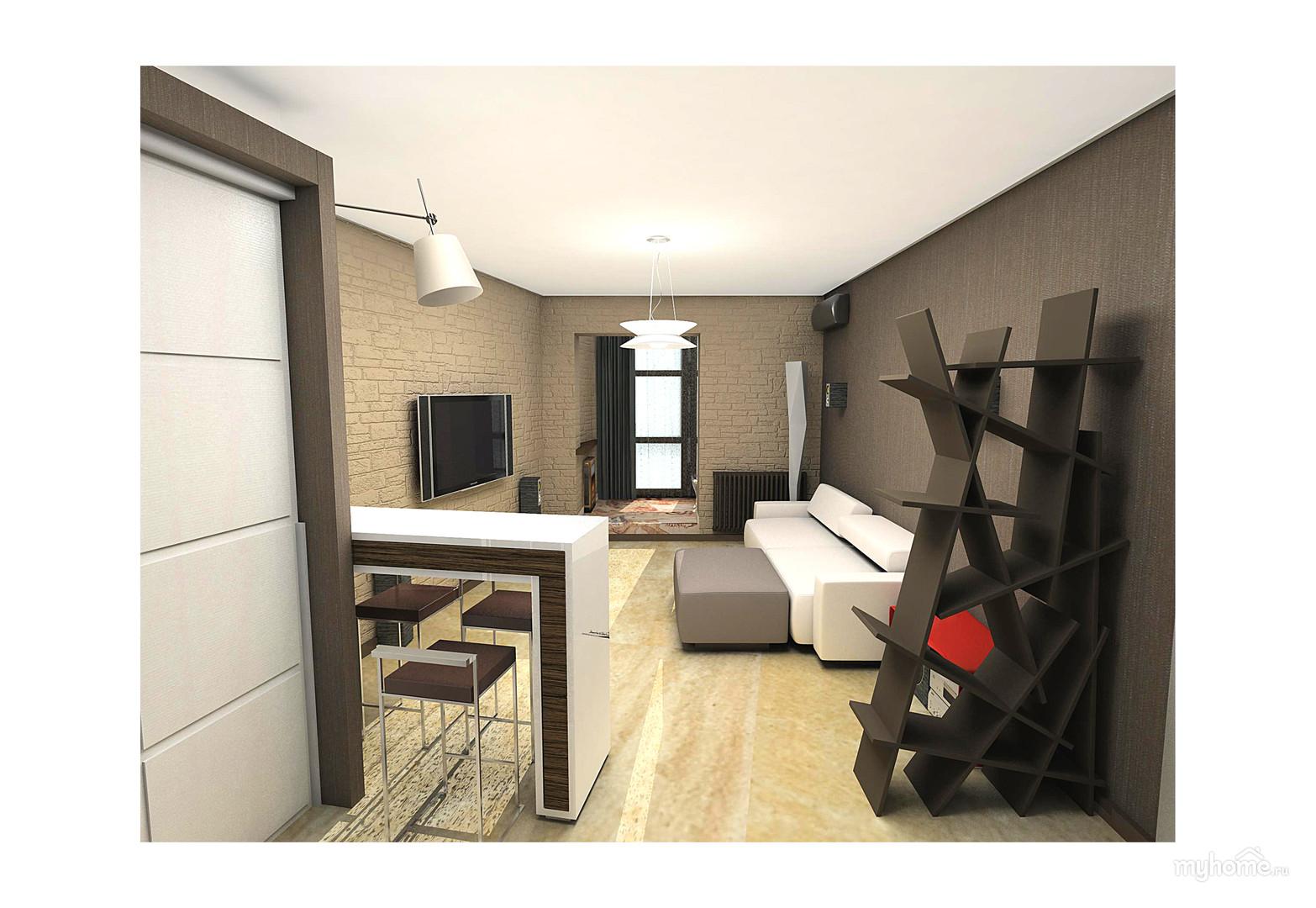 Студия 35 кв.м дизайн