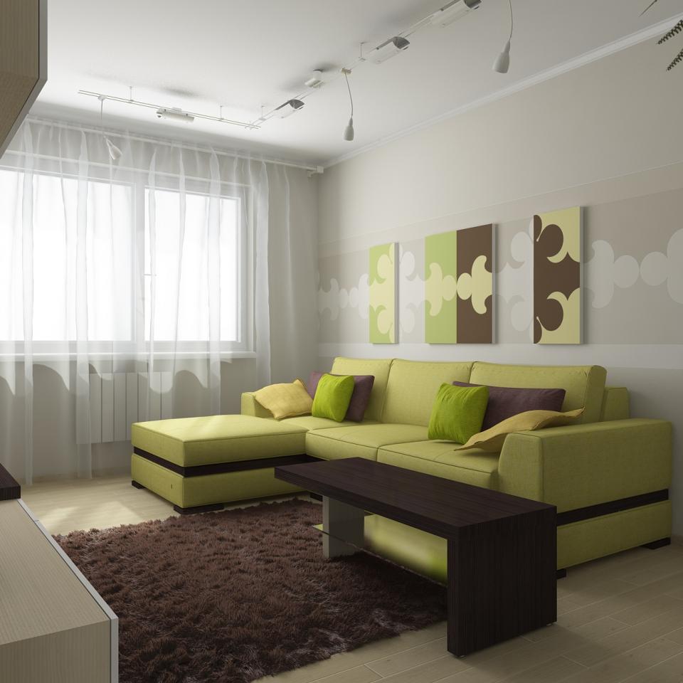 Зелено коричневый цвет в интерьере фото
