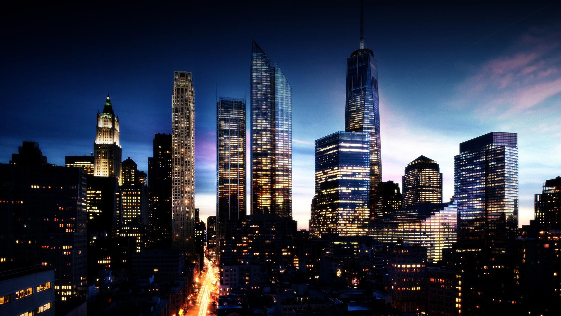 ночной город огни небо подборки