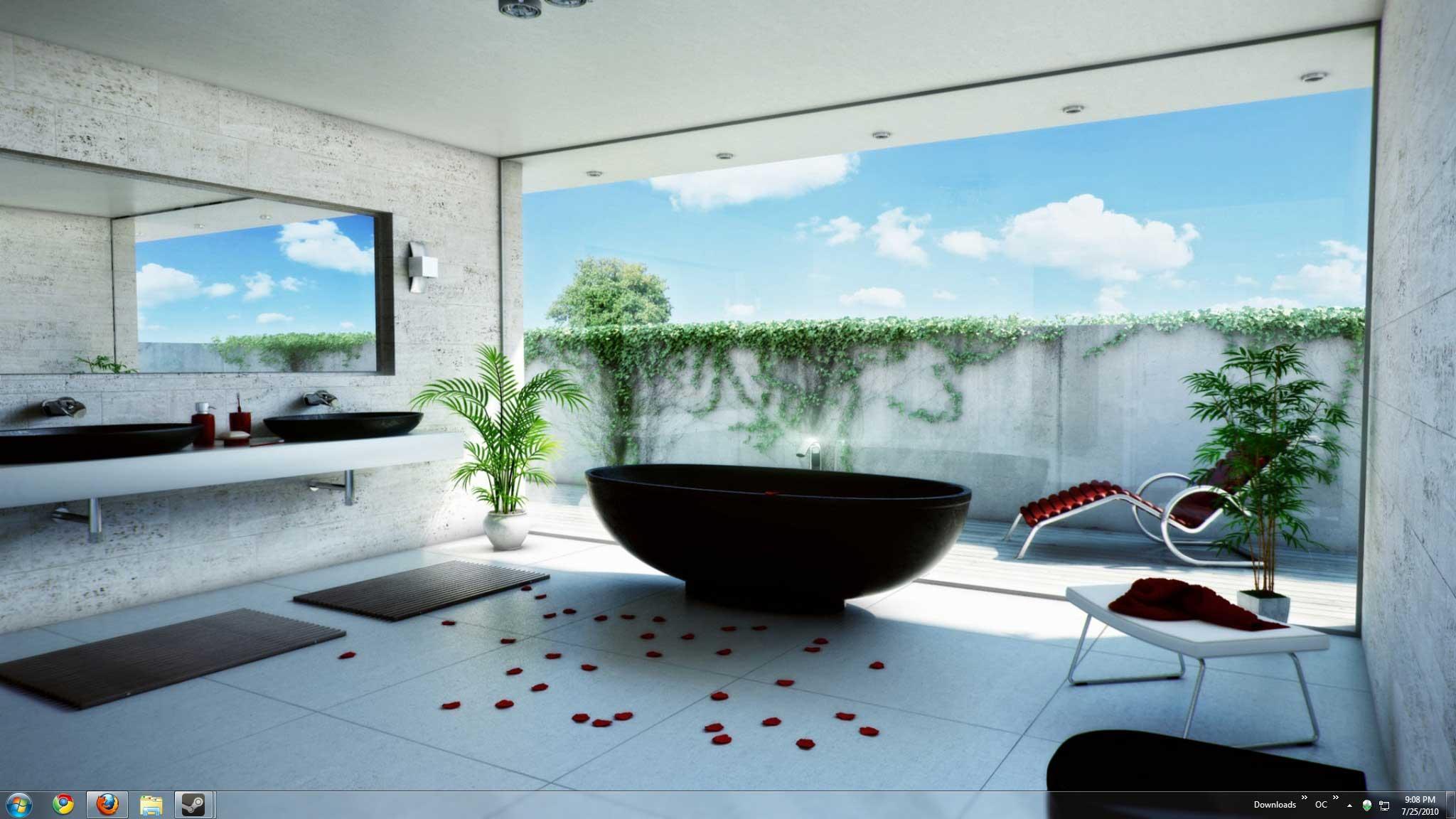 """Ремонт в ванной комнате обои """" картинки и фотографии дизайна."""