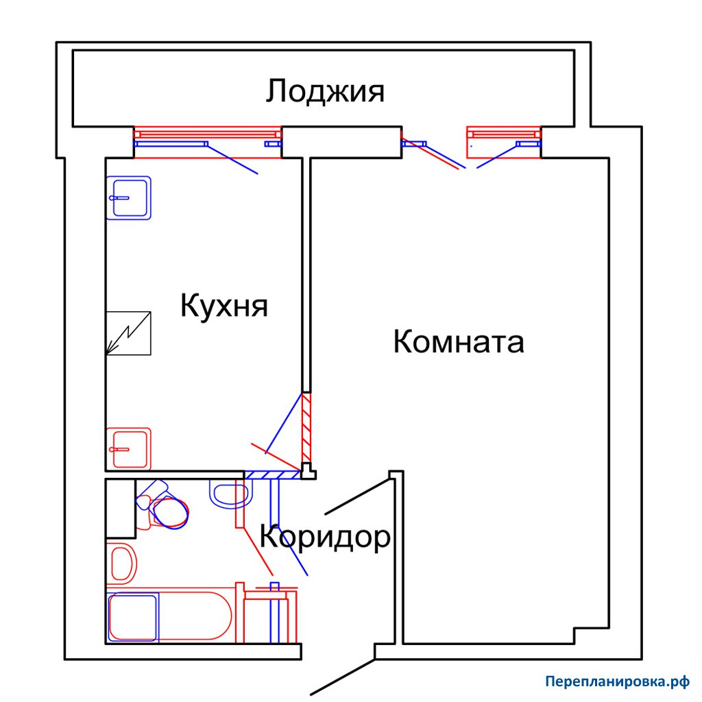 """Перепланировка 1-но комнатной квартиры """" картинки и фотограф."""