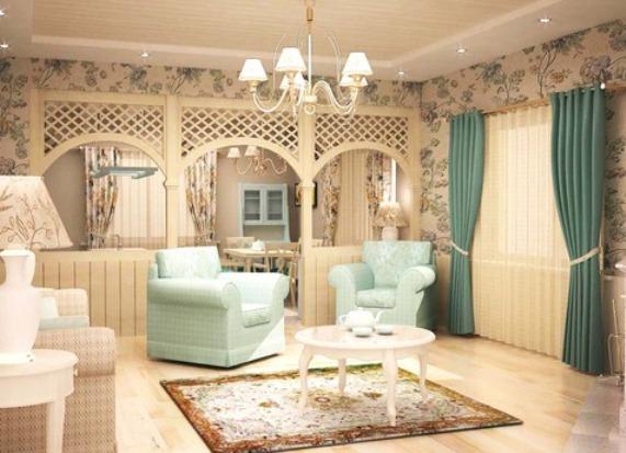 прованс в гостиной фото