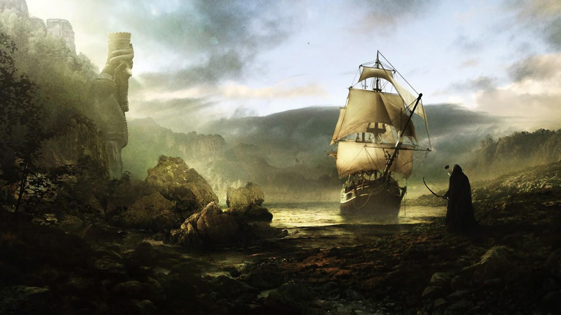 сказочный корабль с парусами без смс