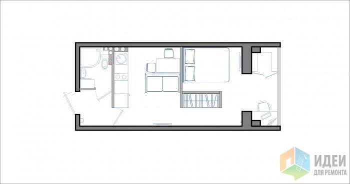 "Дизайн проект квартиры студии 27 кв м "" картинки и фотографи."