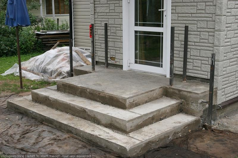 как сделать крыльцо из бетона в дом