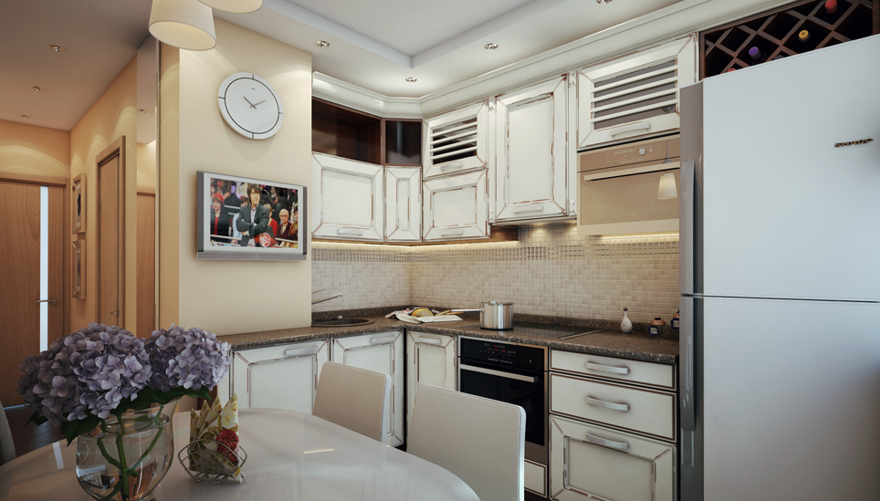 Дизайн 2-комнатной квартиры п-46, пример перепланировки квар.