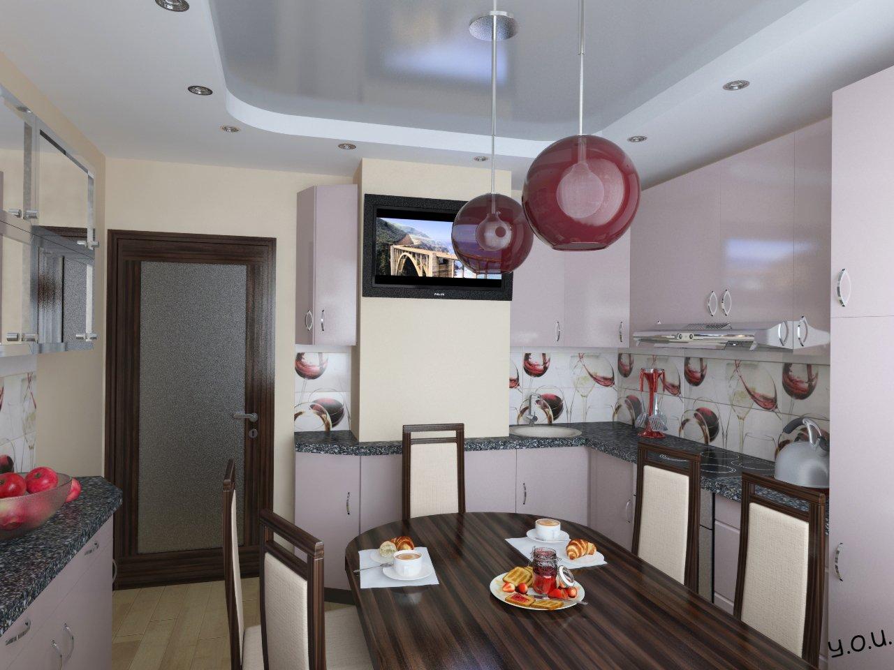 Дизайн кухни с эркером (44 фото), интерьер помещения площадь.