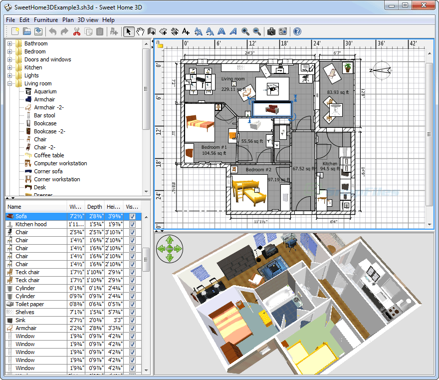 Скачать бесплатно программу 3 d моделирование интерьера