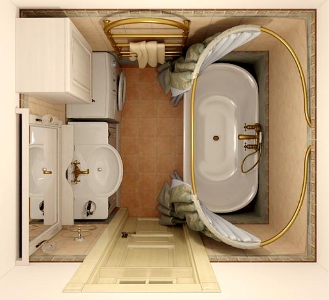 Дизайн маленькой ванной комнаты идеи советы рекомендации: Интерьер маленькой ванной комнаты со стиральной машиной