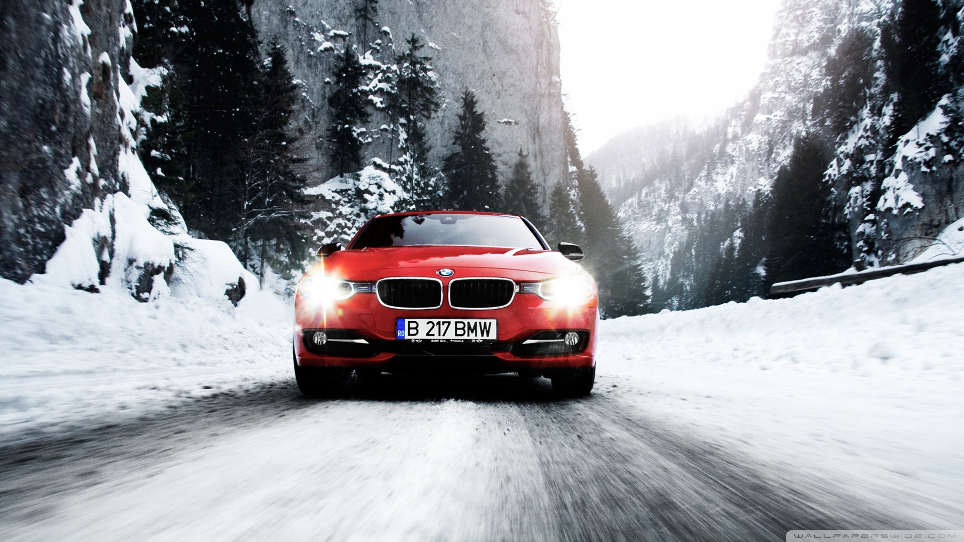 графика автомобиль красный спортивный снег зима загрузить