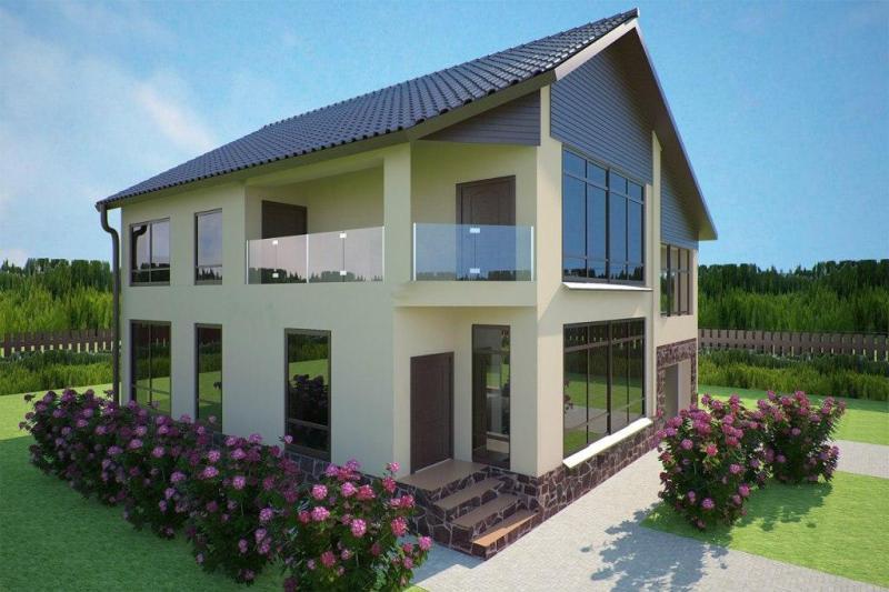 Дизайн фасады домов фото