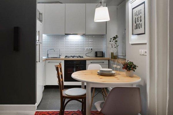 Дизайн и интерьер очень маленькой кухни фото