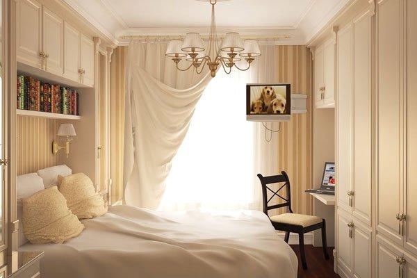 Дизайн маленькой спальной комнаты