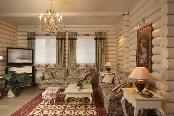 Интерьер гостиной в загородном доме фото