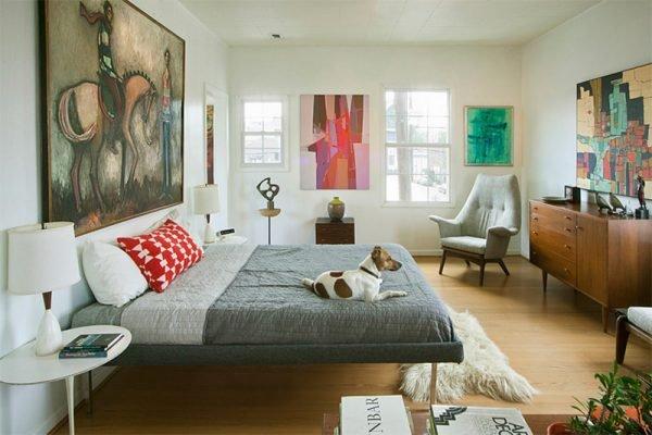 Спальни в стиле ретро фото