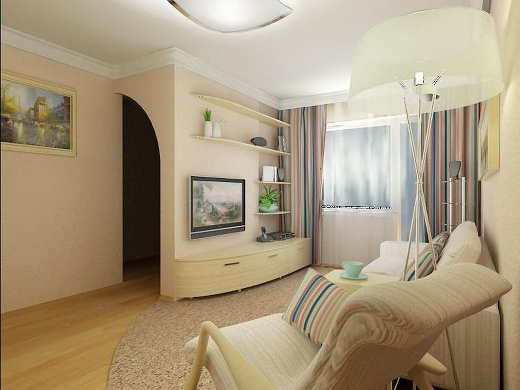 Дизайн зала в двухкомнатной хрущевке