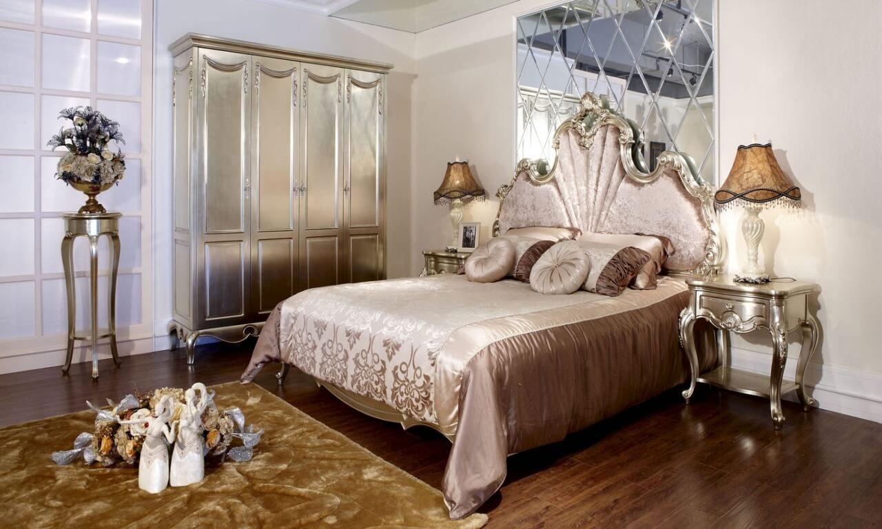 Интерьер спальни в французском стиле
