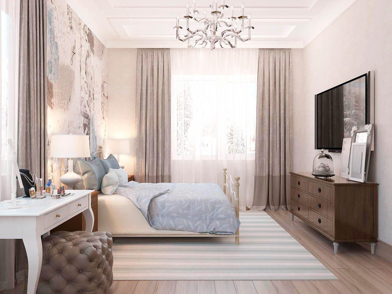 Спальня в американском стиле
