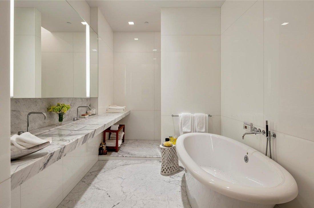 Дизайна ванной в белом цвете