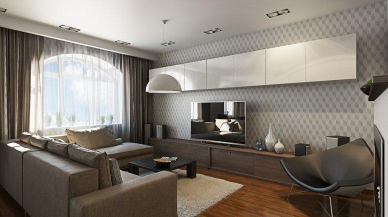 Отделка гостиной в современном стиле. Идеи необычного дизайна. Рекомендации стильного оформления интерьера в гостиной