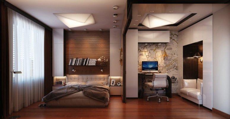 Совмещенная гостиная — примеры идеального зонирования.