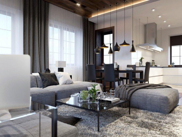 Красивые гостиные. Стильные дизайнерские решения и варианты идеального сочетания
