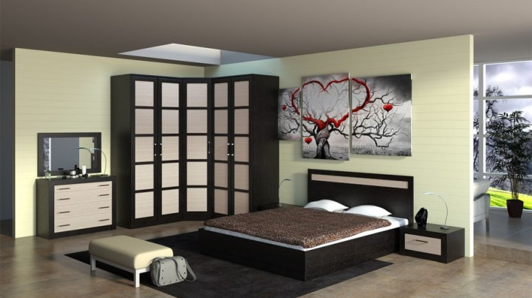 Обустройство угловой спальни. Варианты эксклюзивного и современного дизайна в спальне
