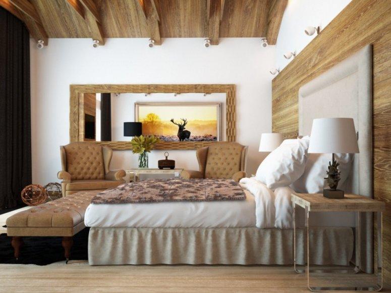 Спальня в доме. Лучшие фото идеи шикарного обустройства и дизайна!
