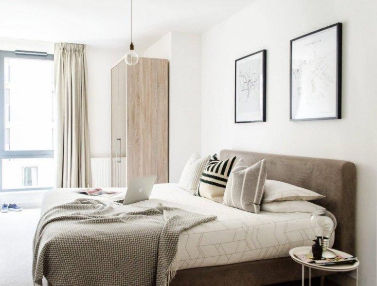 Спальня 9 кв. м. — фото-идеи применения современных стилей и вариантов отделочных работ