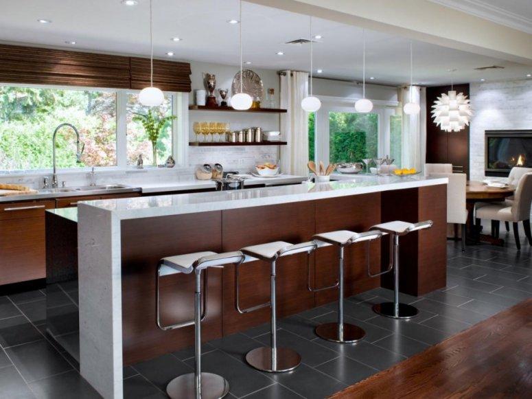 Кухня 18 кв. м. — идеальный современный и просторный стиль. Фото планировки и удачных вариантов дизайна