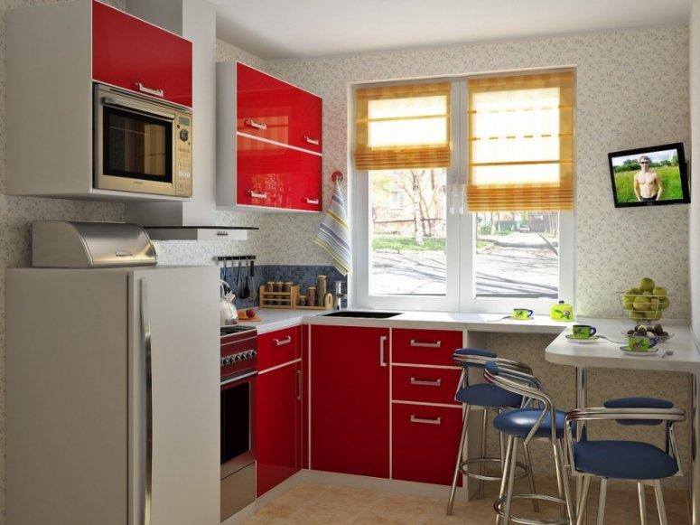 Маленькая кухня — фото-идеи современного оформления реальных интерьеров