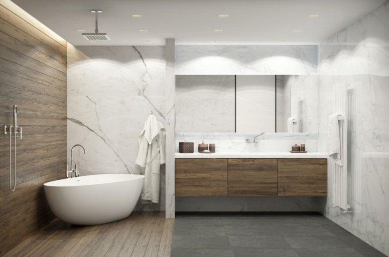 Дизайн ванной — фото новинок 2019 года. Лучшие идеи современного интерьера в ванной комнате