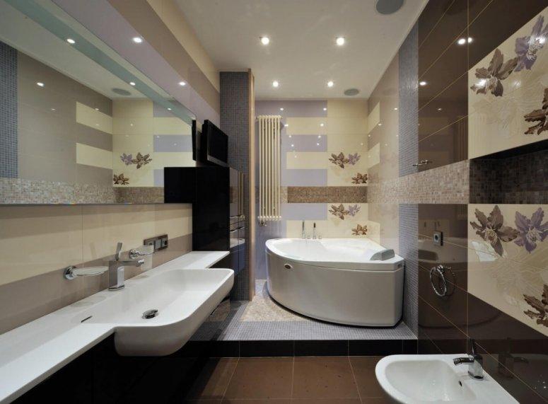 Отделка ванной — фото стильных современных вариантов дизайна и обзор материалов