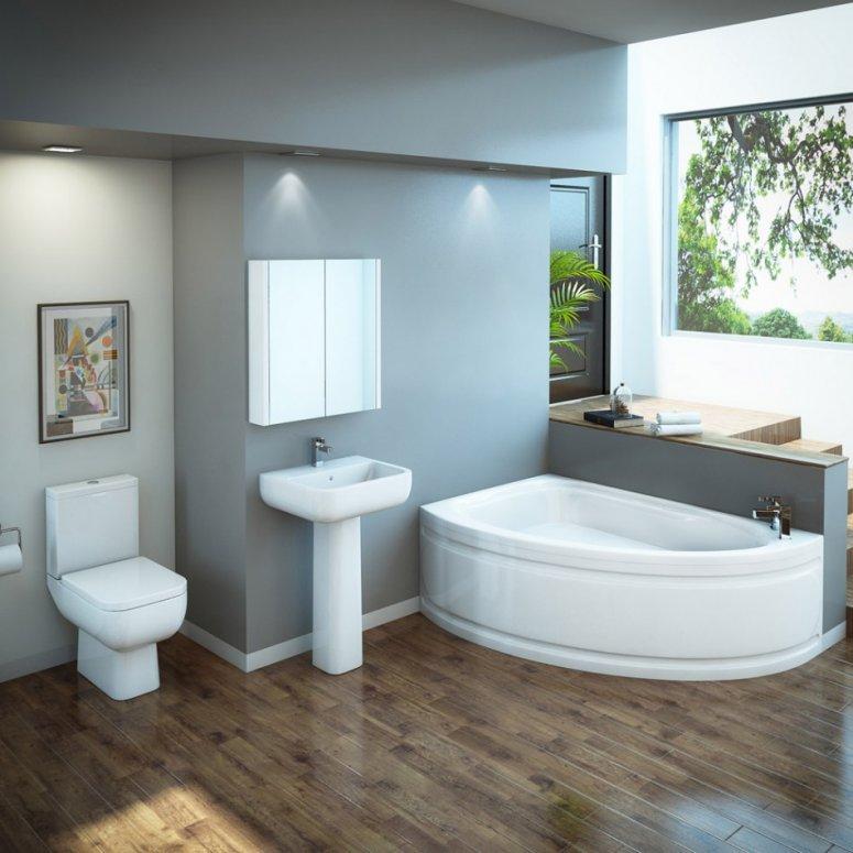 Угловая ванная — размеры, особенности ухода и популярные варианты оформления