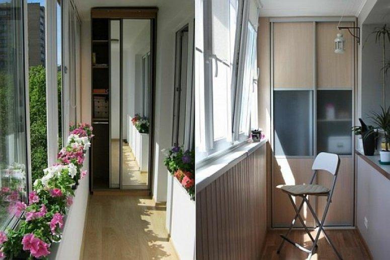 Шкаф на балкон — примеры лучших вариантов.