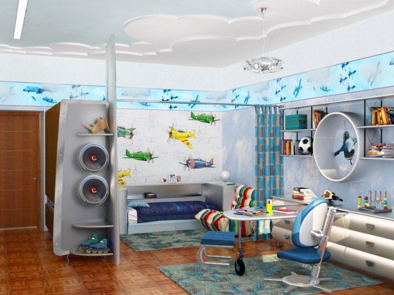 Детская комната для мальчика. Идеи как обустроить практичный и функциональный дизайн
