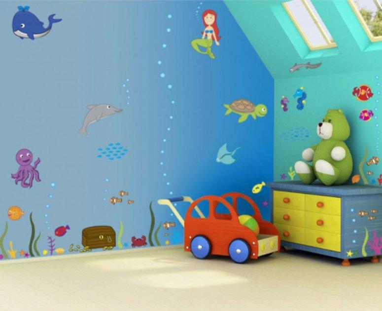 Детская 14 кв. м. — современный стиль, идеи ремонта и планировки.