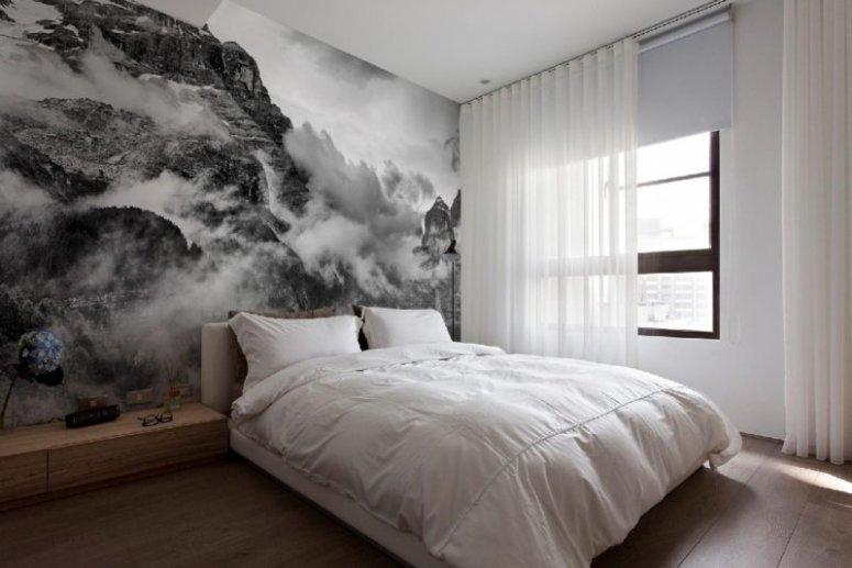 Фотообои в спальню — стильно и современно