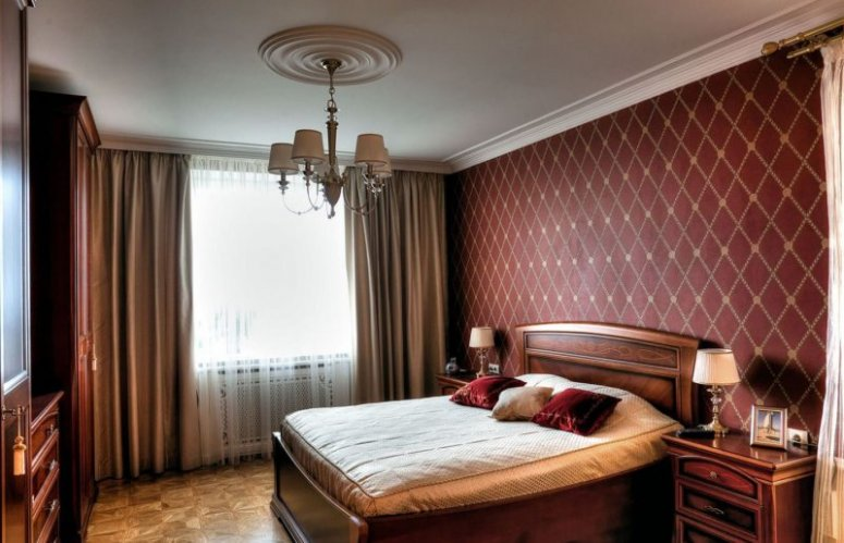 Бордовая спальня — варианты лучшего сочетания бордового цвета в интерьере