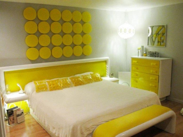 Желтая спальня - изумительный дизайн в желтых тонах