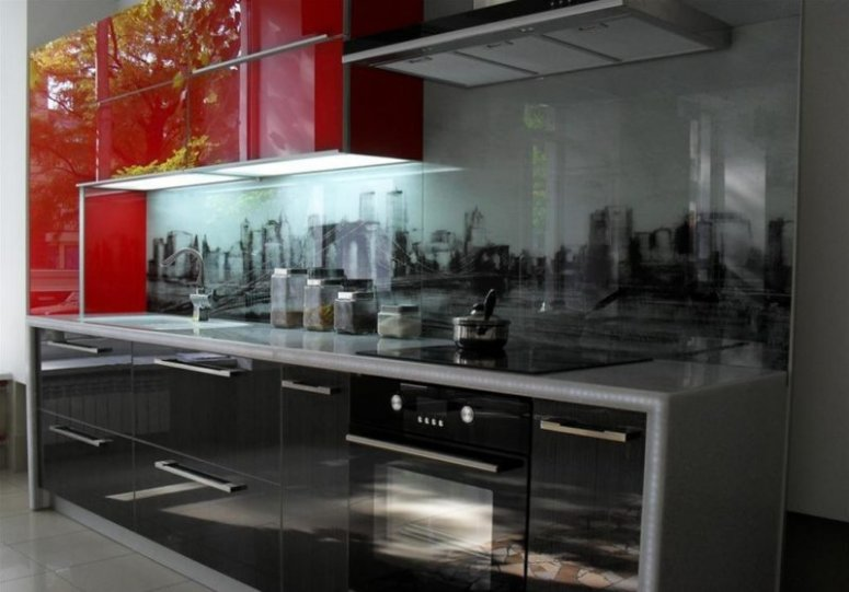 Фартук на кухне — как его оформить? какой материал выбрать?